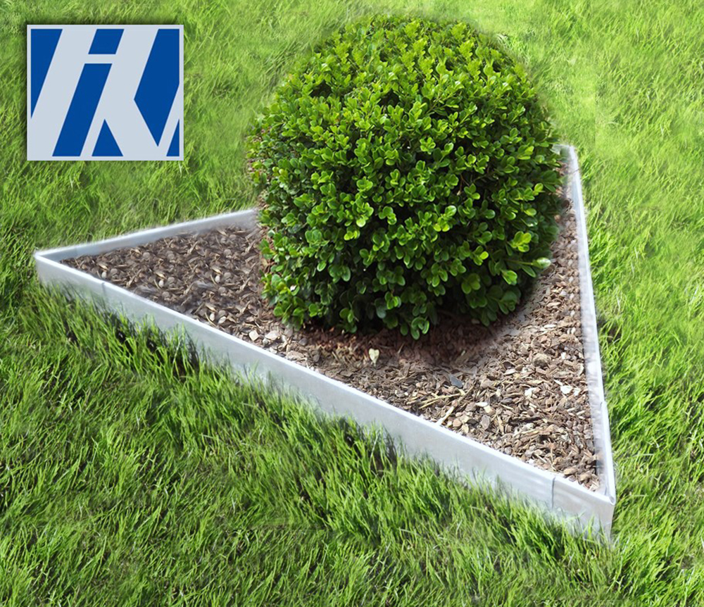 rasenkante metall set dreieck 76x76x76cm 13 5cm hoch. Black Bedroom Furniture Sets. Home Design Ideas