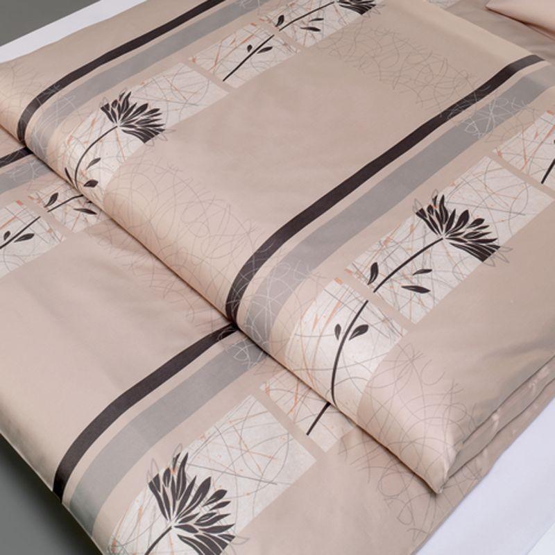 mako satin bettw sche estella lifestyle asuna sand bettw schegarnitur 135x200 cm ebay. Black Bedroom Furniture Sets. Home Design Ideas