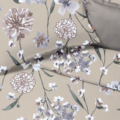 Bettwäsche fleuresse Interlock-Jersey Topas kastanie 155 x 200 cm