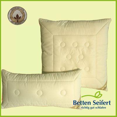 Kopfkissen Garanta Schurwollkissen Bio Cotton kbA-Kamel