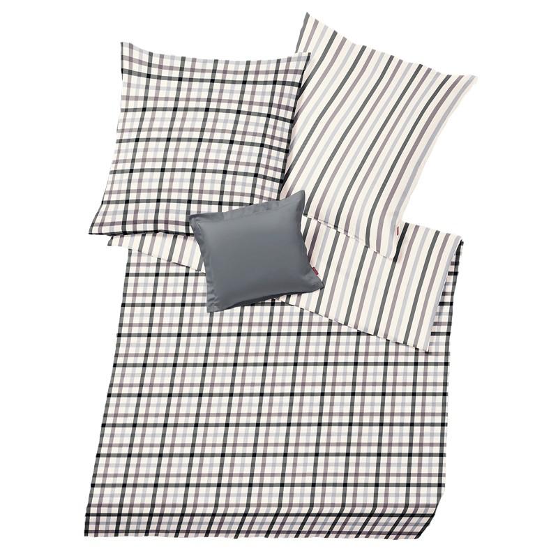 flanell bettw sche fleuresse lech schwarz wei bettw sche. Black Bedroom Furniture Sets. Home Design Ideas