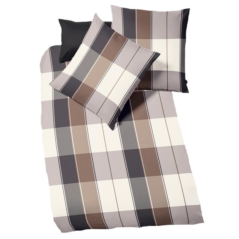 fleuresse lech graphit kuschelig warme flanellbettw sche mit rei verschluss ebay. Black Bedroom Furniture Sets. Home Design Ideas