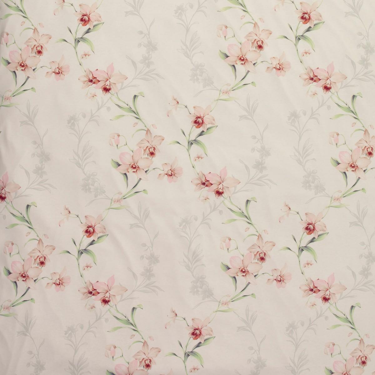 Kuschelweiche Interlock-Jersey Bettwäsche Estella Fedora magnolia Blumenranken