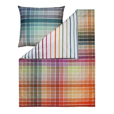 Mako-Satin Bettwäsche Estella Block multicolor