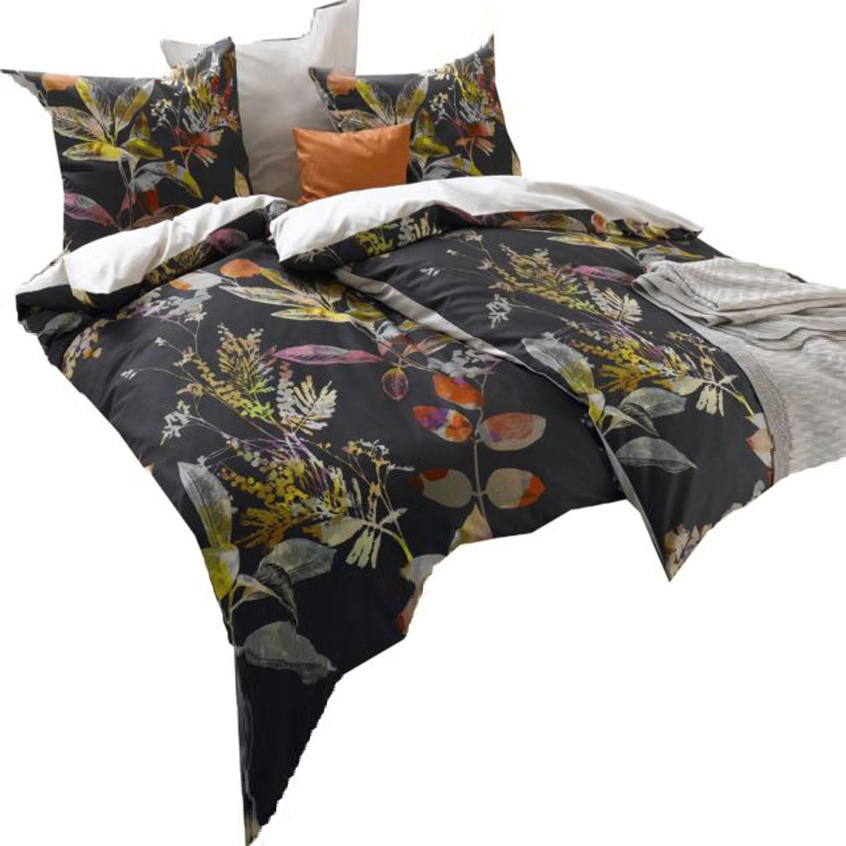 mako satin bettw sche fleuresse bed art s herbstzauber schwarz bettw sche mako satin bettw sche. Black Bedroom Furniture Sets. Home Design Ideas