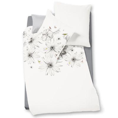 Mako-Satin Bettwäsche fleuresse Bed Art S Paradise platin