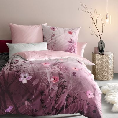 Mako-Satin Bettwäsche fleuresse Bed Art S Wild Rose
