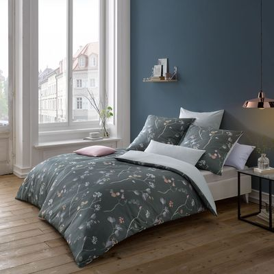 Mako-Satin Bettwäsche fleuresse Bed Art S Flowerdreams silver