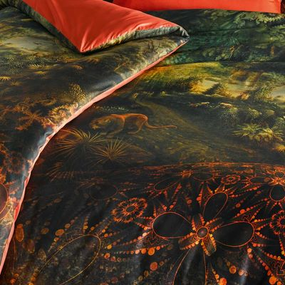 Mako-Satin Bettwäsche fleuresse Bed Art S Magic Garden Eden