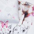 Bettwäche Schmetterlinge Detail
