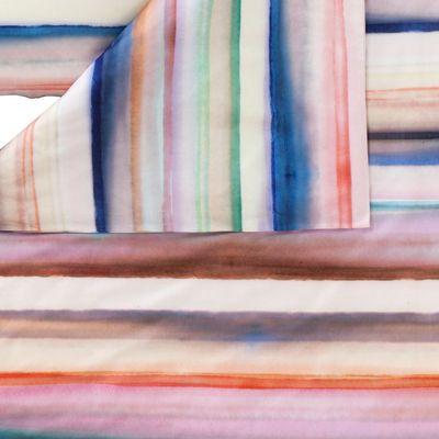 Mako-Satin Bettwäsche Estella Waterstripe multicolor