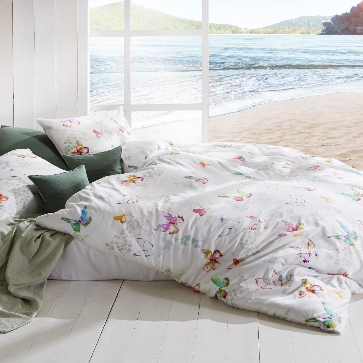 Mako-Satin Bettwäsche fleuresse Bed Art S Fantasy/&Flowers glory Dunkelblau