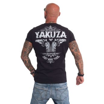 Yakuza T-Shirt Herren TSB 674 Two Colts schwarz