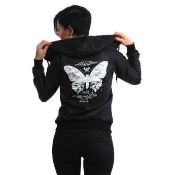 Yakuza Damen Jacke Fake-Leder Moth Jacket GJB 8137 schwarz online kaufen