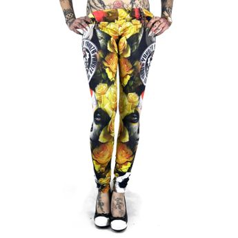 Yakuza Leggings Damen Mexican Rose LEB 9144 multicolored