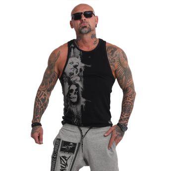 Yakuza Herren Muscle Shirt Waiting Death Tank UHB 10050 schwarz