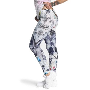 Yakuza Leggings Damen Butterfly LEB 10138 weiß