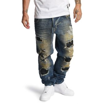 Yakuza Jeans Herren Skeleton Loose Fit JEB 10065 bronze distressed