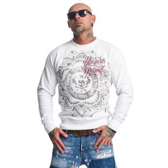 Yakuza Pullover Herren Sweatshirt Inked In Blood PB 10089 weiß