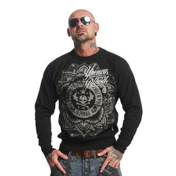 Yakuza Pullover Herren Sweatshirt Inked In Blood PB 10089 schwarz