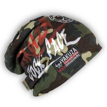 Yakuza Beanie Mütze Allover Cock Face YB 11306 camouflage unisex
