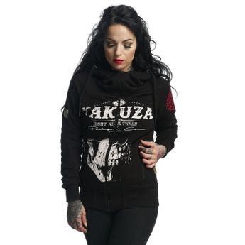 Yakuza Damen Sweatjacke Daily Skull High Neck GHZB 11109 schwarz