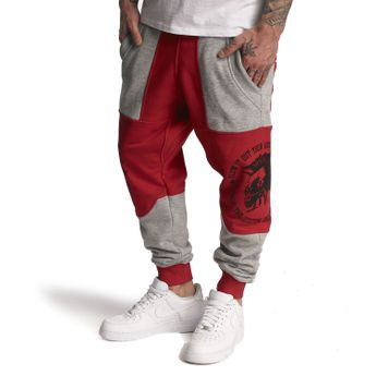 Yakuza Jogginghose Herren Punx Two Face Anti Fit JOB 11030 ribbon red