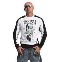 Yakuza Pullover Herren Sweatshirt Love Hate Two Face PB 11019 weiß 001