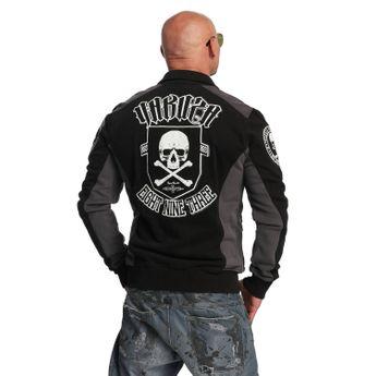 Yakuza Sweatjacke Herren Cross Bones Zipper ZB 11022 schwarz