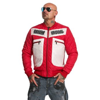 Yakuza Herren Steppjacke Authentic Diamond Quilted JB 11024 ribbon red