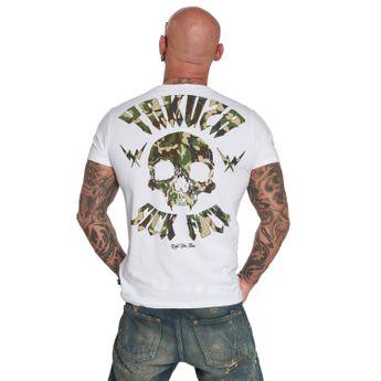 Yakuza T-Shirt Herren Sick Fuck Military TSB 12057 weiß