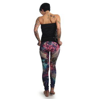 Yakuza Leggings Damen Flowers Of Death LEB 12142 multicolored online kaufen
