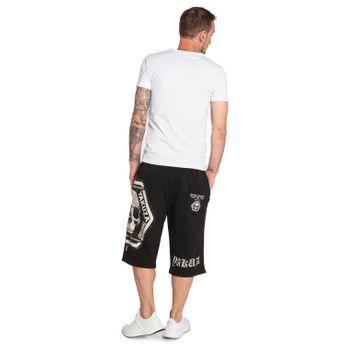 Yakuza Jogger Shorts Herren Skull Label V02 SSB 12046 schwarz online kaufen