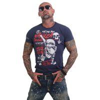 Yakuza Herren T-Shirt Cock Face TSB 12002 mood indigo moon 001