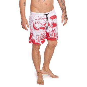 Yakuza Badehose Herren Trojan Swim-Shorts geranium