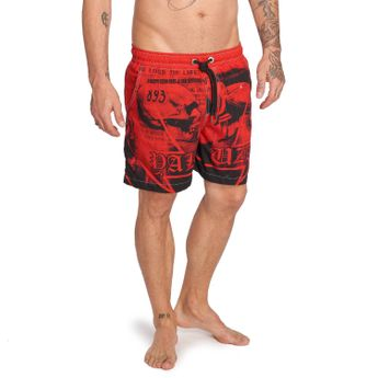 Yakuza Badehose Herren Trojan Swim-Shorts BSB 12042 ribbon red