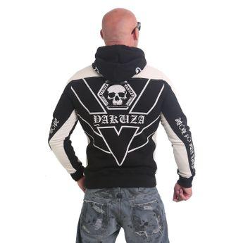 Yakuza Herren Kapuzenpullover AK893 Two Face Hoodie schwarz online kaufen