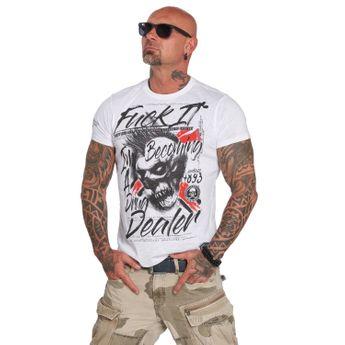 Yakuza Herren T-Shirt Drug Dealer TSB 12014 weiß