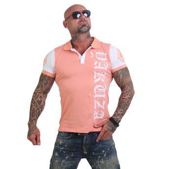 Yakuza Herren Polo-Shirt 893 Two Face TPO 12025 papaya punch