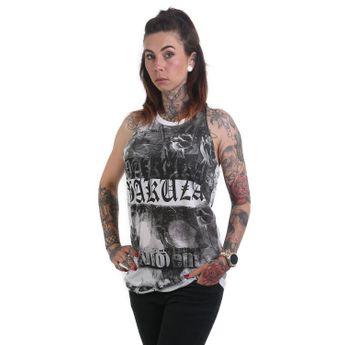 Yakuza Tank Top Damen PMV Knot Shirt GSB 12104 weiß