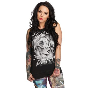 Yakuza Tank Top Damen Drug Dealer Shirt GSB 12106 schwarz
