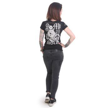 Yakuza T-Shirt Damen Violent V-Neck GSB 12117 schwarz online kaufen