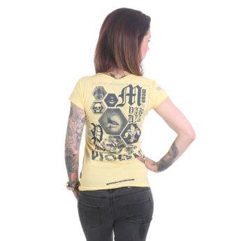 Yakuza T-Shirt Damen Violent V-Neck pale banana online kaufen
