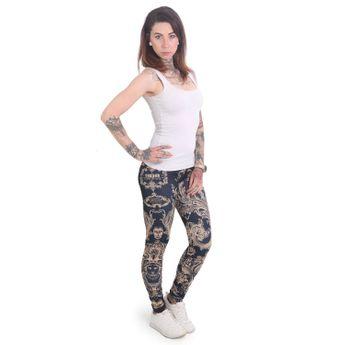 Yakuza Leggings Damen Floral V02 mood indigo LEB 12141 online kaufen