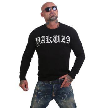 Yakuza Herren Feinstrick-Pullover Daily Use Knit PB 12069 schwarz online kaufen