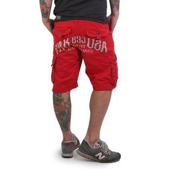 Yakuza Cargo Shorts Herren Skull CSB 12044 ribbon red online kaufen