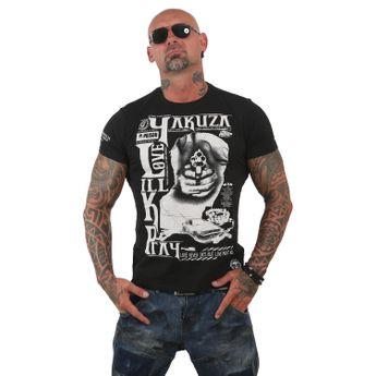 Yakuza Herren T-Shirt Love Kill Pray TSB 12003 schwarz