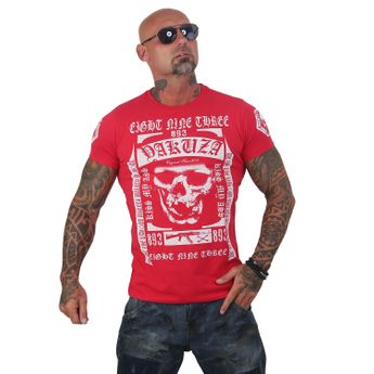 Yakuza T-Shirt Herren Kiss My XXX TSB 12007 ribbon red