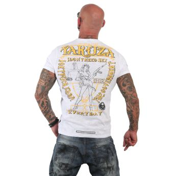 Yakuza T-Shirt Herren Everyday TSB 12013 weiß