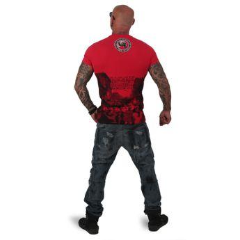 Yakuza Herren T-Shirt Italian Job TSB 12016 ribbon red online kaufen